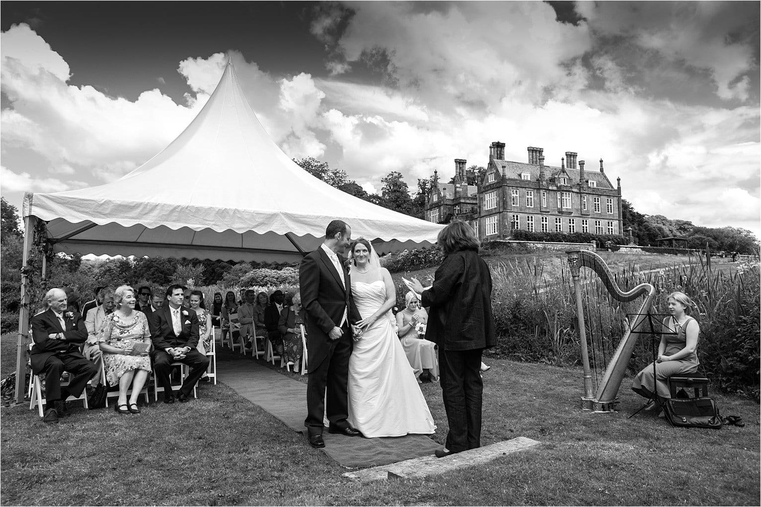 Summer wedding on Kitley House island
