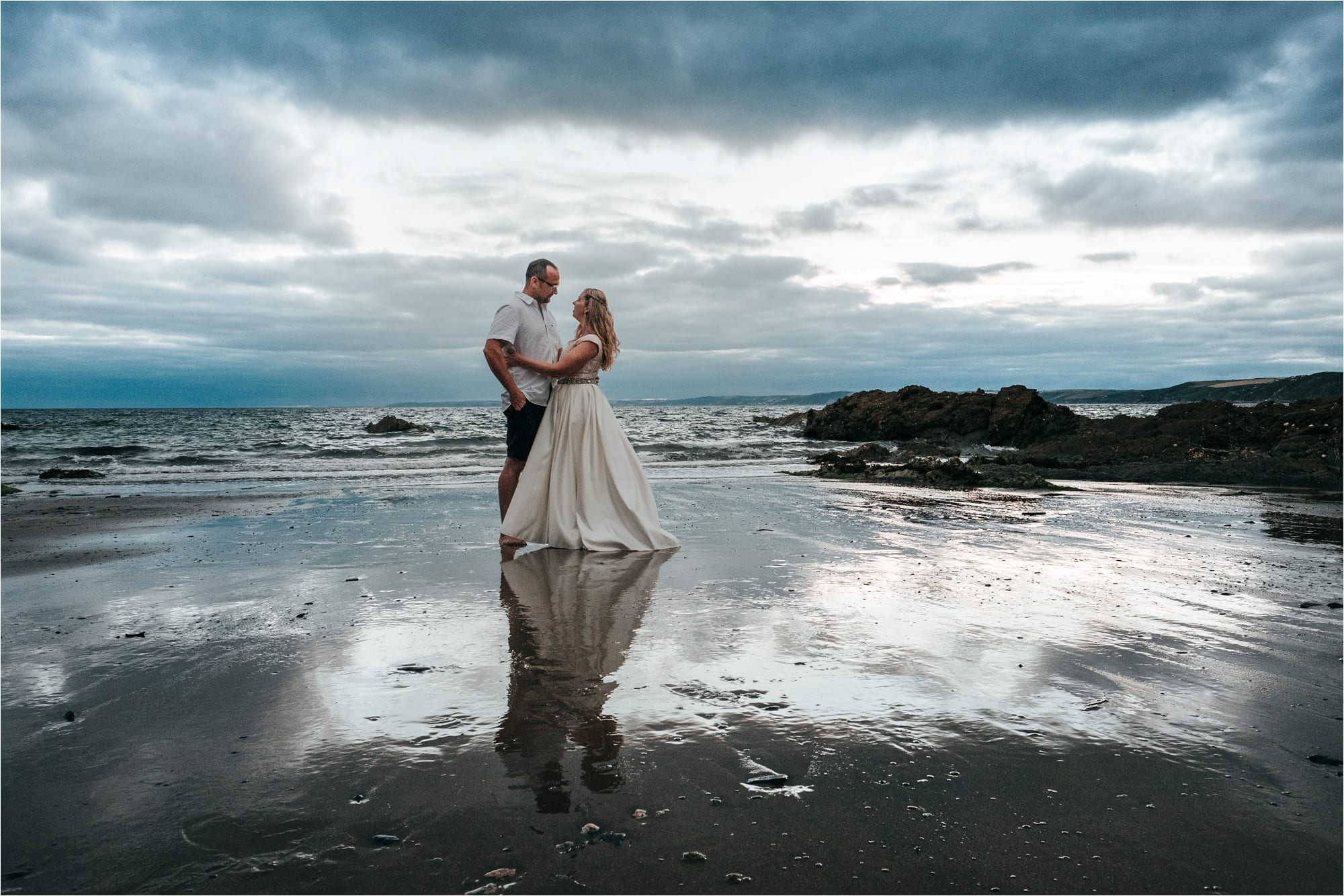 Polhawn Fort seaside wedding in Cornwall